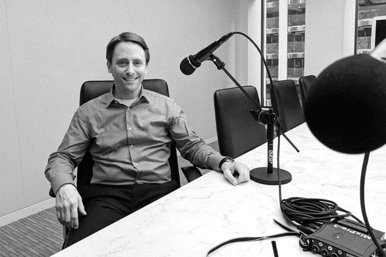 Greg Fleischmann discussing externally facing salespeople in the legal industry on the Legal Marketing Studio Podcast, July 2018 NYC.