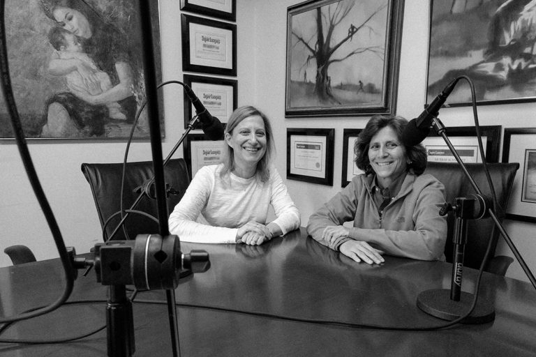 Janice Roven and Davida Perry discussing the Women's Empowerment Networking Group on the Legal Marketing Studio podcast with host Michael Meyer.